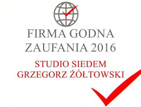 STUDIO SIEDEM GRZEGORZ ŻÓŁTOWSKI – FIRMA GODNA ZAUFANIA